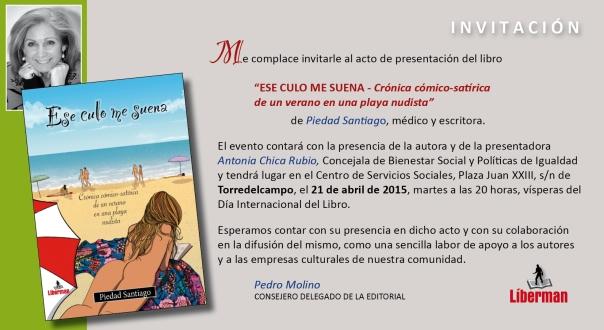 INVITACIÓN libro piedad santiago